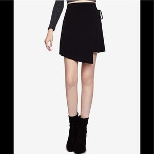 NWOT BCBGeneration Faux-Wrap Mini A-Line Skirt